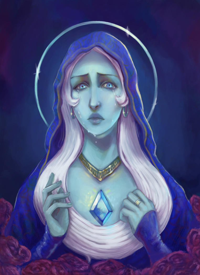 Blue Diamond from Steven Universe done Catholic-style.  First bit of work for this site- hi