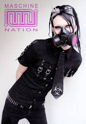 Mult-Coloured Gas Mask