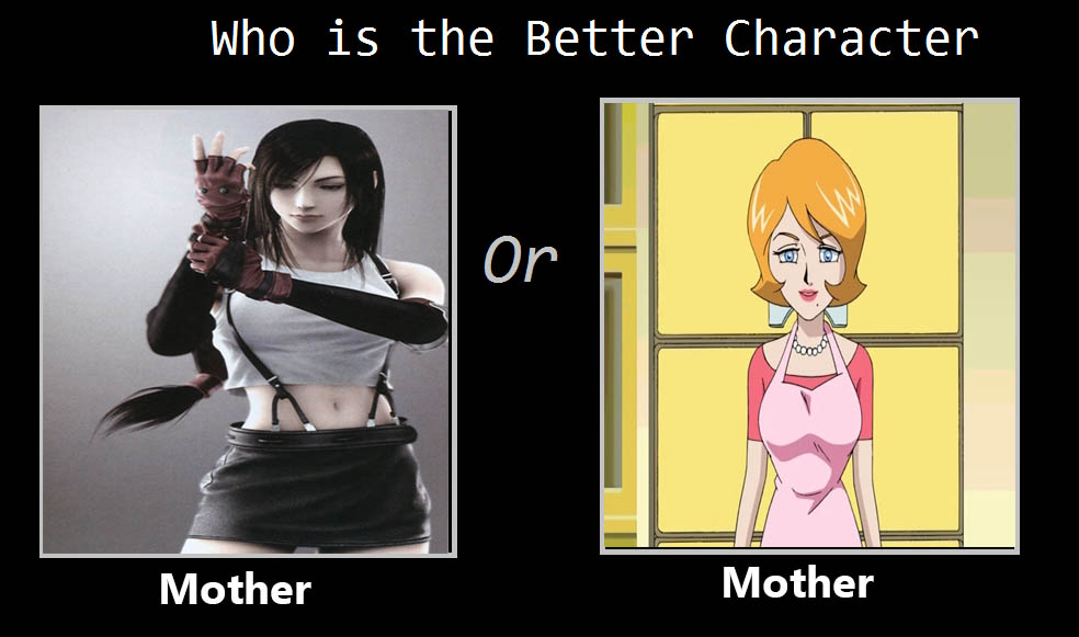 Chris Thorndyke's Better Mother - Tifa Or Lindsey by heroicsonnyjim