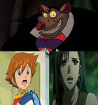 Chris and tifa are scared of ratigan