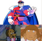 Sister bear and d.w are scared of m.bison