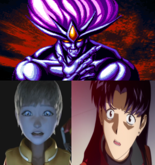 Will And Misato Are Scared Of neo dio by heroicsonnyjim