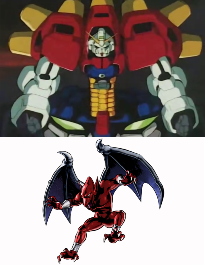 Firebrand meets Devil Gundam by heroicsonnyjim on DeviantArt