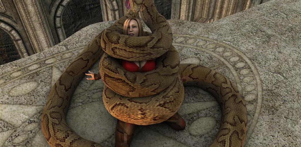 Snake vs girl porn images