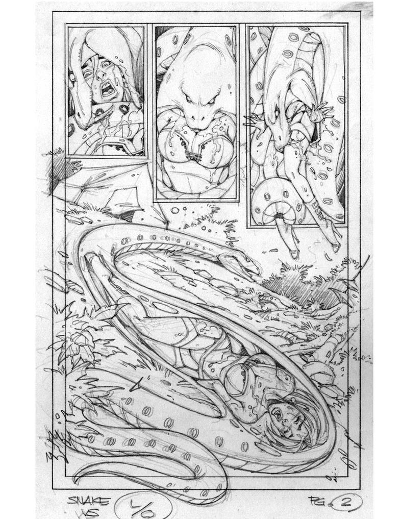 Kat Vs Snake (Old Sketch) by swiftbladez