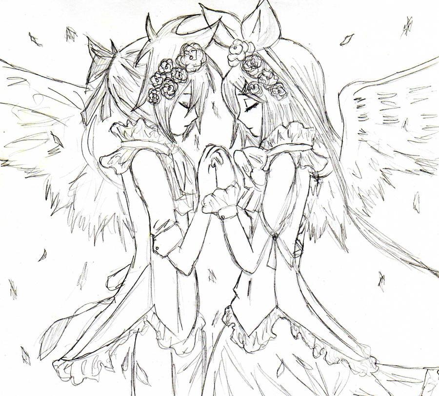 épreuve d'entré Angelic_Rin_And_Len_Kagamine_by_ll_CleAR_ll
