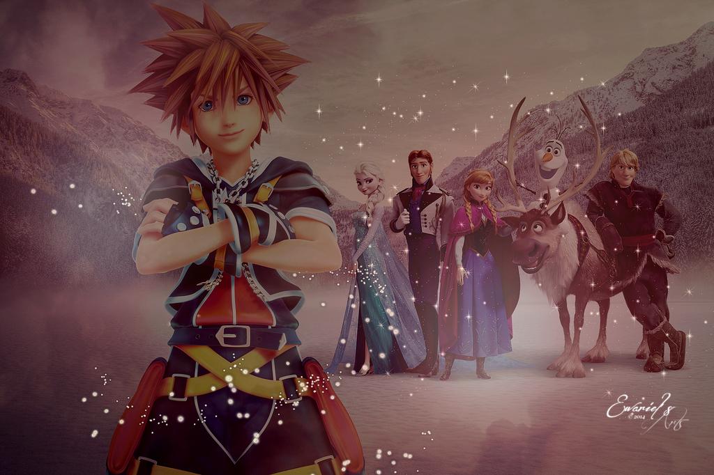 Kingdom Hearts - Frozen Wallpaper by Ewariel