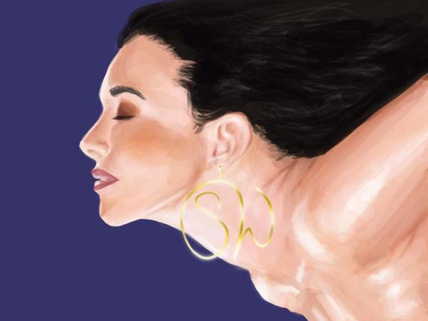 Ininials Earings by StefanWittman