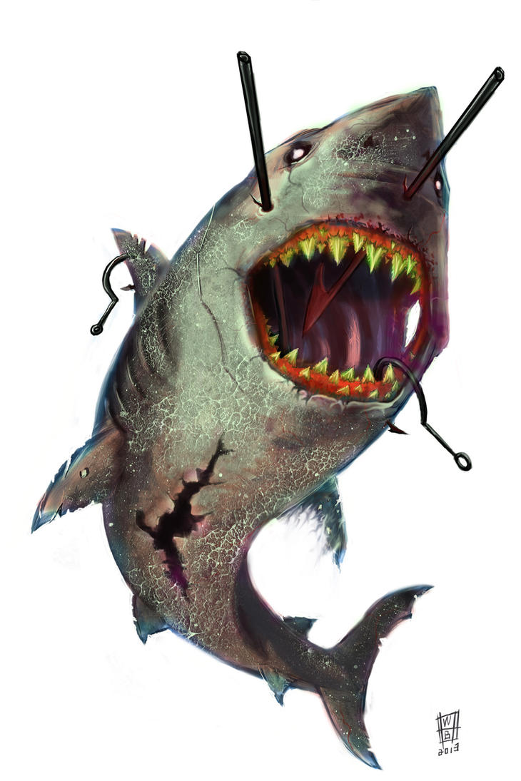 Zombie Shark by williamsquid