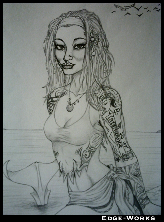 mermaid muse by Edge-Works