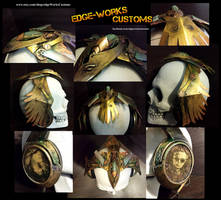 Steampunk Raven Headphones by Edge-Works