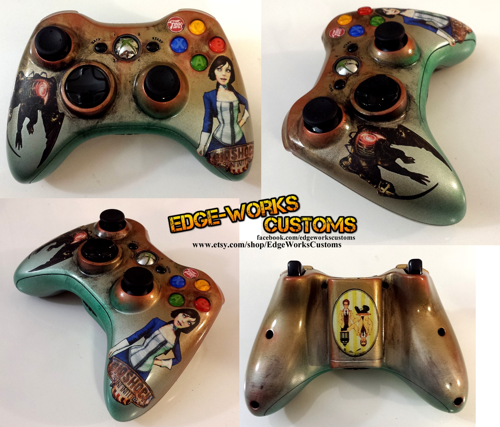 Bioshock Infinite Xbox Controller by Edge-Works