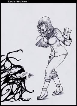 Commission Hinata and symbiote
