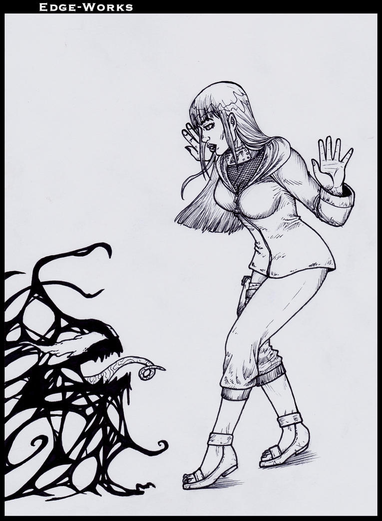 Commission Hinata and symbiote by Edge-Works