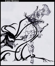 Commission Hinata and Symbiote 2