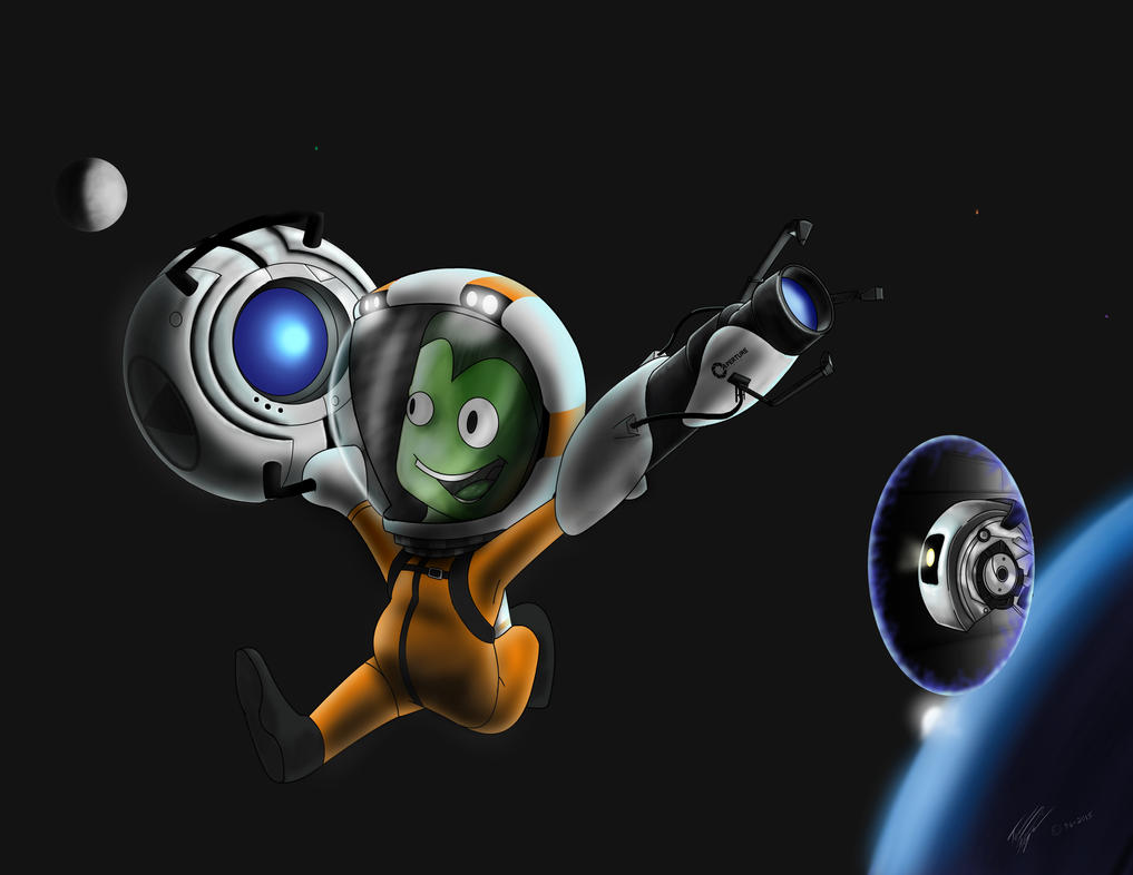 Kerbal on the run by TerrenceP