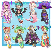 Mixed Adopt Batch 5 SET PRICE CLOSED by memeavatar