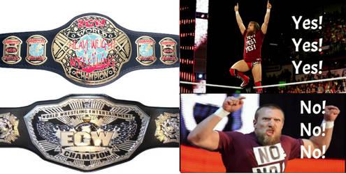 Daniel Bryan-ECW Belts