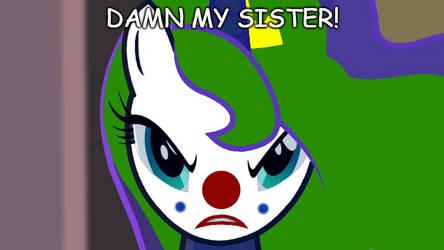 Princess Luna the Clown by EarWaxKid