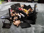 Piled Up Wrestlers by EarWaxKid
