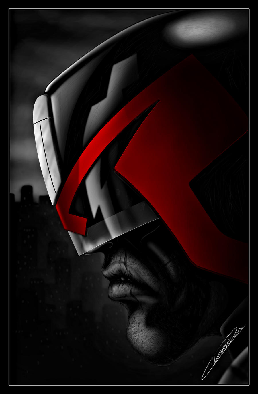 Better Dredd than Dead - red by GrandMaster-J5