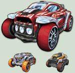 Toy Car car design n Box art