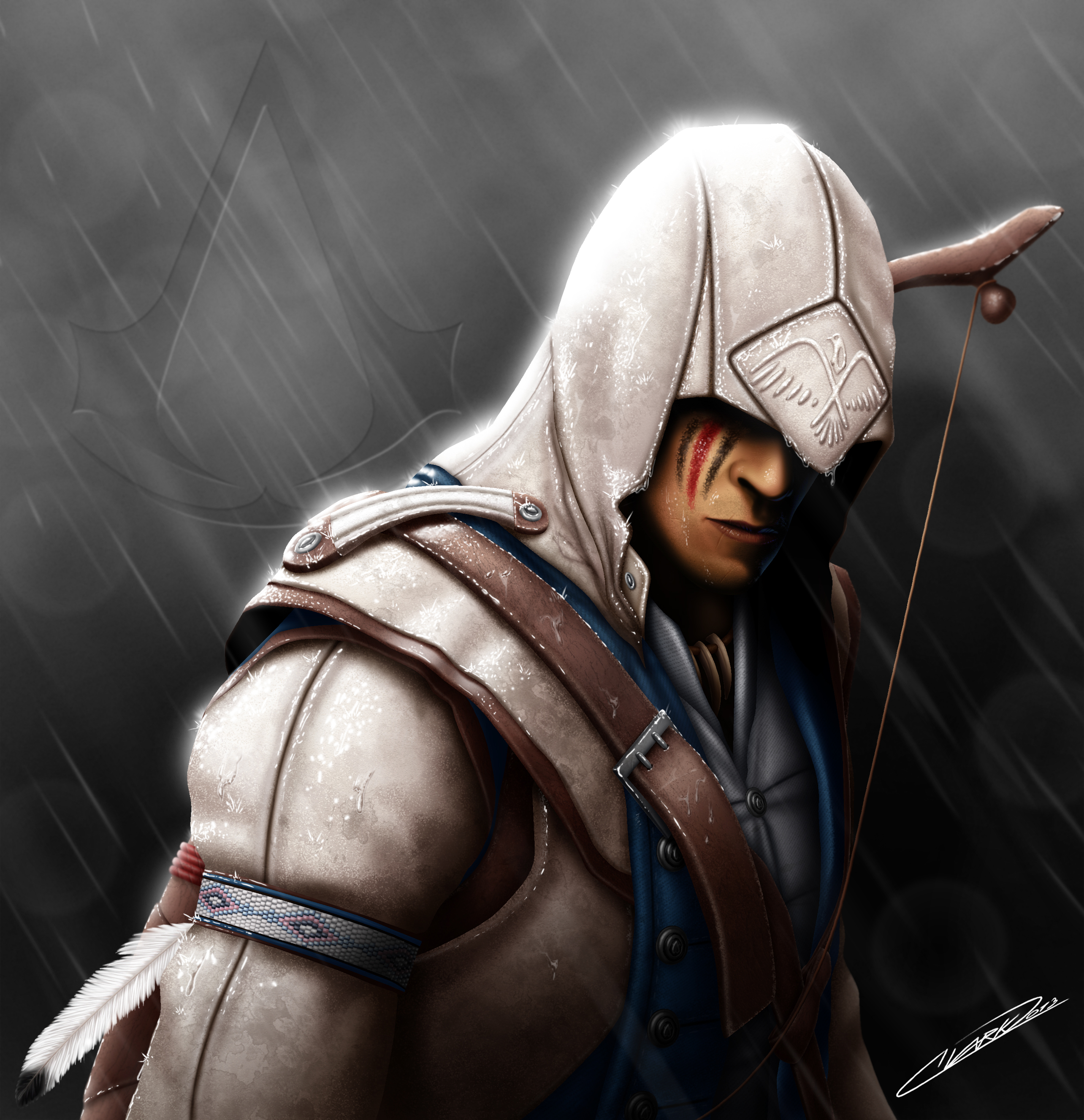 Connor Ac3 War Paint Variant By Grandmaster J5 On Deviantart