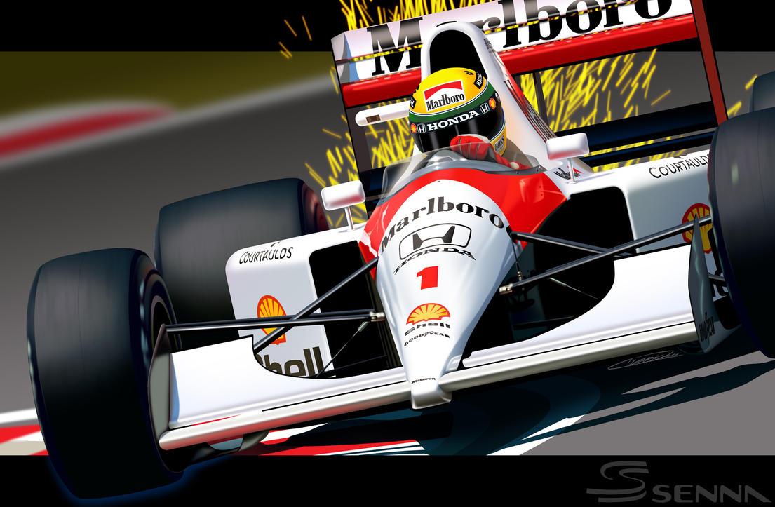 Ayrton Senna by GrandMaster-J5