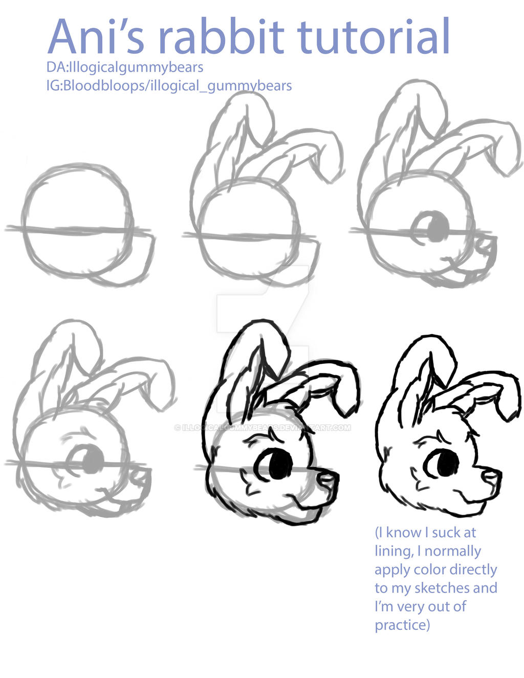 Rabbit Tutorial by illogicalgummybears
