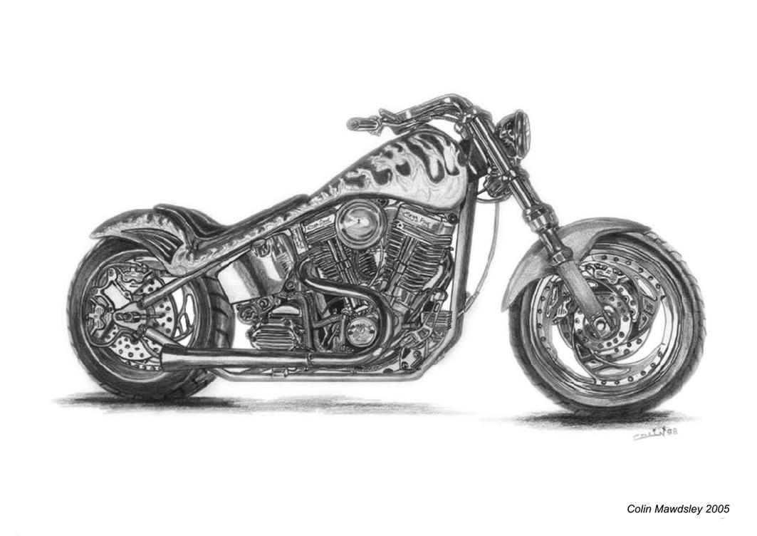 harley davidson custom 1 by kloggi69 on deviantart