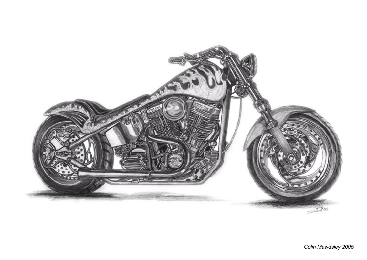 Harley davidson custom 1 by kloggi69 on deviantart