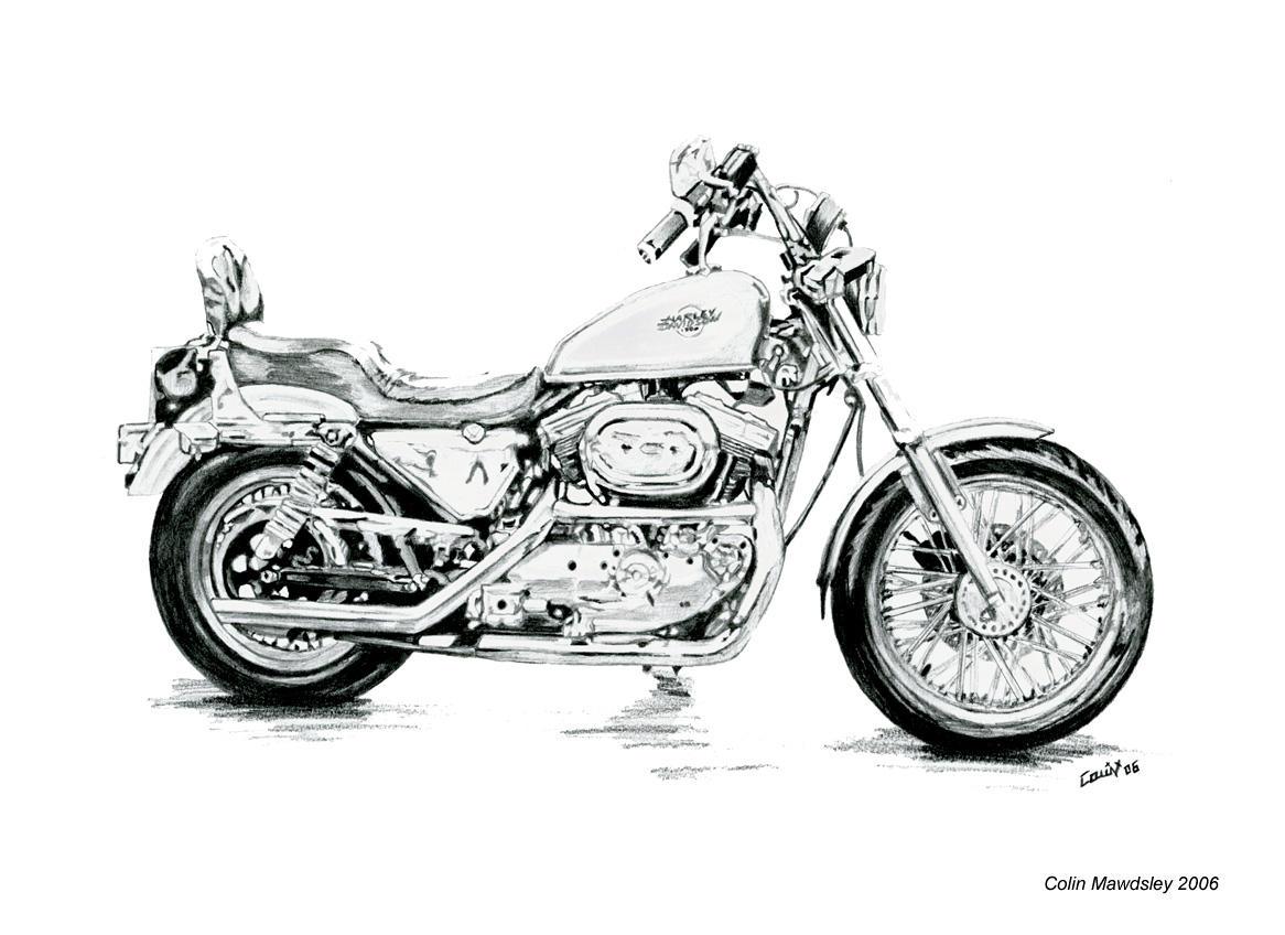 Harley Davidson Sportster Drawing