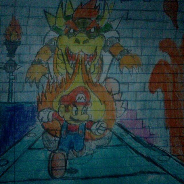 Super Mario 3D Land Final Boss: Mario VS Bowser by munsonx4