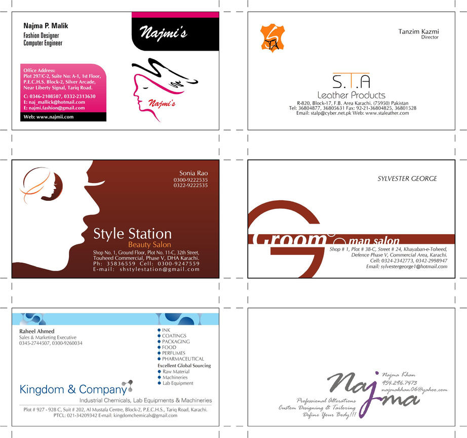 Visiting Cards Design By Jawaidrais