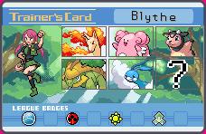 Pokemon - Blythe Trainer Card by aque-mizuhara