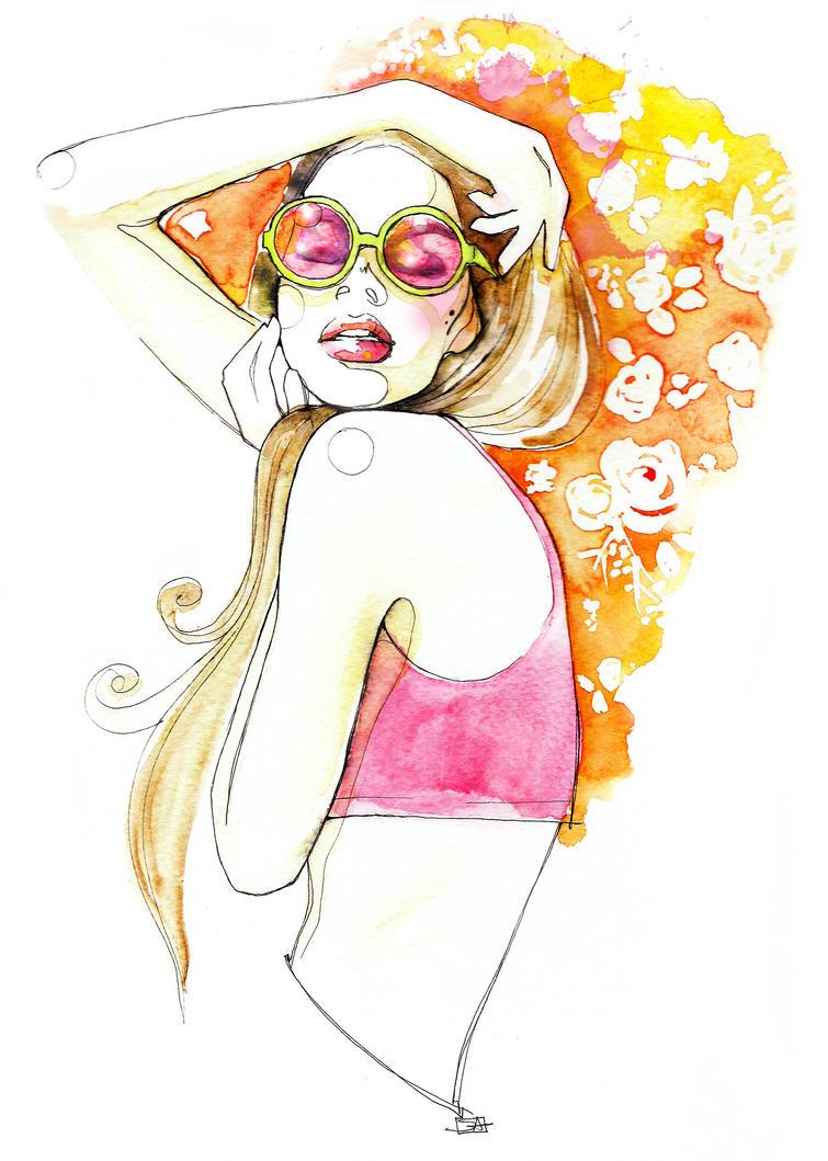 hippie girl by saraligari on DeviantArt