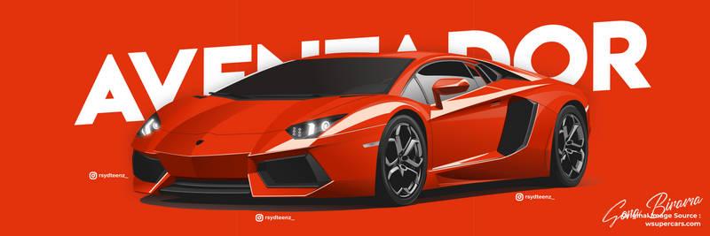 Lamborghini Aventador LP-400 Illustration Modern