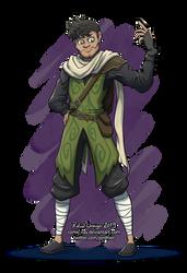 Ashir wearing fern armour