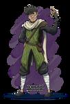 Ashir wearing fern armour by Comic-Ray