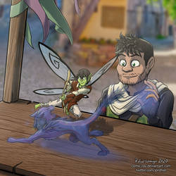 Elfo's show fight