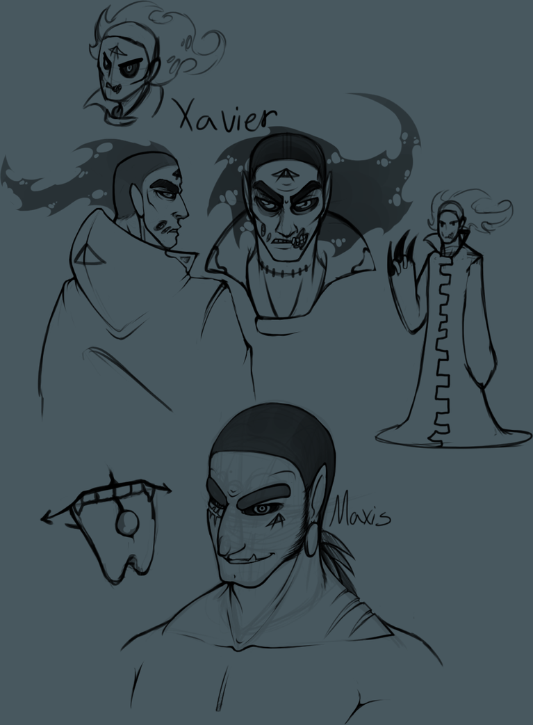 Xavier and Maxis by Phoeberia