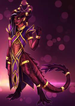 DND!Sharim - Dragonborn/Tiefling Sorcerer