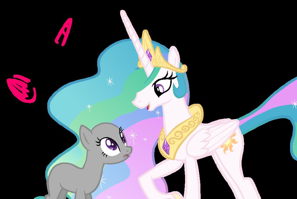 MLP Base: OC X Princess Celestia By KIngBases On DeviantArt