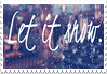let it snow -stamp-