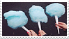 blue cotton candy -stamp- by KIngBases