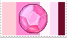 Rose Quartz gem -stamp- by KIngBases