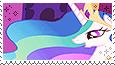 Princess Celestia -stamp- by KIngBases