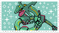 Rayquaza -stamp- by KIngBases