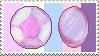 Rainbow Quartz gems -stamp- by KIngBases