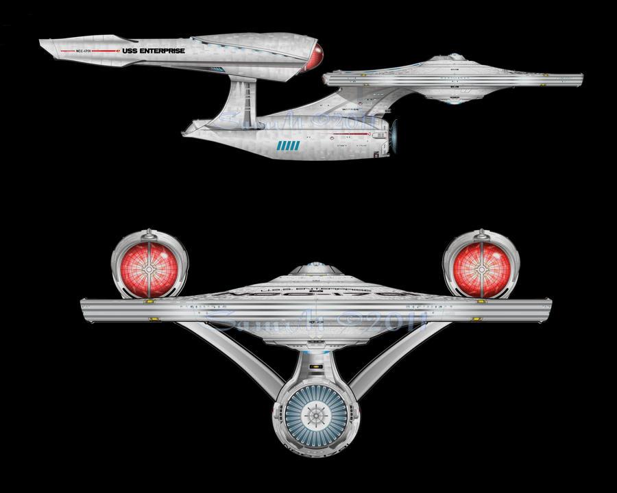 Star trek 2009 uss enterprise by sammsart on deviantart for Wohnung star trek design